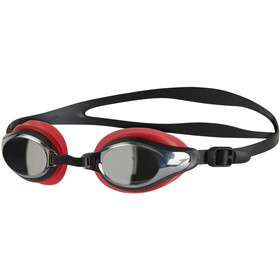 speedo Mariner Supreme Mirror Goggles Unisex, lava red/black/chrome